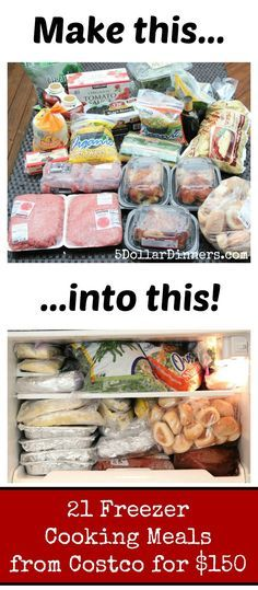 Imagine your freezer being full of a month's worth of dinners! Let me show you how easy it is to do... | 5DollarDinners.com