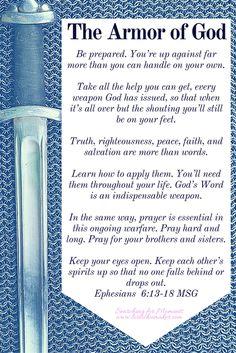 Armor of god bible verses