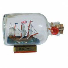 Maritmes Flaschenschiff der berühmten Mayflower  als schöne Geschenkidee und für Sammler.   KEINE VERSANDKOSTEN INNERHALB DEUTSCHLANDS!!