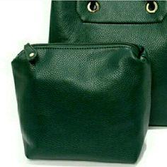 Forest Green Makeup Bag