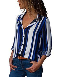 Dokotoo Chemise Femmes Manches Longues Chemisier à Carreaux Tops Slim  Elégante Blouse Shirts Chemisier À Carreaux 627efc4cb7e6