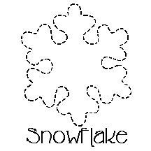 Quilt Stencil Snowflake 5in x 5-1/2in | Snowflake stencil ... : snowflake quilting stencil - Adamdwight.com