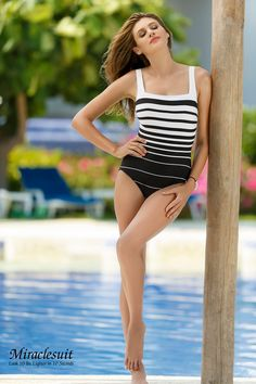 51353caa67 Miraclesuit Right Down The Line Square Neck  362540 Click Here to buy  http