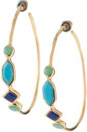 Gold, Green, AND Blue! These gorgeous front-facing hoops have it all. Stella & Dot could write the book on Spring 2012 fashion.