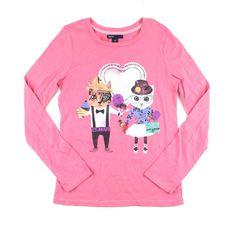 pink t-shirt, GapKids t-shirt, cat t-shirt, pink cat t-shirt
