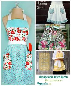 Vintage and Retro Apron Patterns