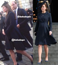 LiveLoveLaughter Twitter:  The Duchess of Cambridge repeated her Beulah London coat for today's memorialo service for British equestrien Richard Meade, which she attended along with the Duke of Cambridge, March 26, 2015