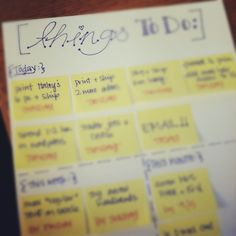 cute to-do list idea. i wonder if i'd like it!