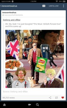 The Most British Picture Ever, Presented by her Majesty Google and her good friend Sir Tumblr
