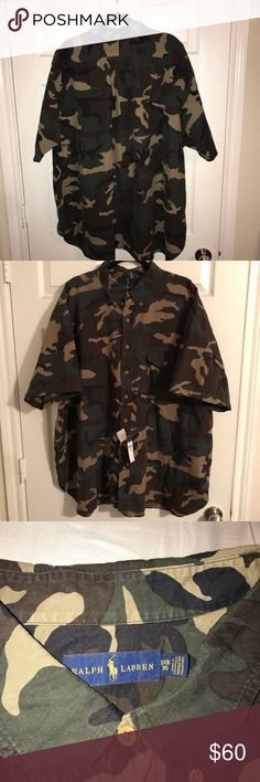 39140a4d0 Ralph Lauren Men s Camo Short Sleeve Button Shirt New with tags Ralph  Lauren Polo short sleeve Ralph Lauren Shirts Casual Button Down Shirts