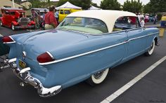 1954 Packard Panama Clipper HT - white over light blue - rvr . American Auto, American Classic Cars, Old Classic Cars, Classic Trucks, Old Race Cars, Us Cars, Sport Cars, Vintage Cars, Antique Cars