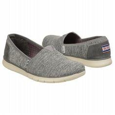 Skechers Bobs Heathers Memory Foam Slip On Grey