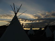 teepees at sunset, via Flickr.