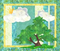Spring is in the Air! Designed by Sandie Designed using Quilt Fusion#QuiltFusion