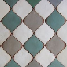Tabarka has been creating beautiful terra-cotta tiles one piece at a time for over 10 years. Backsplash Arabesque, Arabesque Tile, Arabesque Pattern, Kitchen Backsplash, Terra Cotta, House Tiles, Tile Patterns, Tile Design, Islamic Art