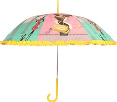 HOU-DY My Style Auto Open Frill Multicolor Umbrella # Multi Color # Polyester # Printed