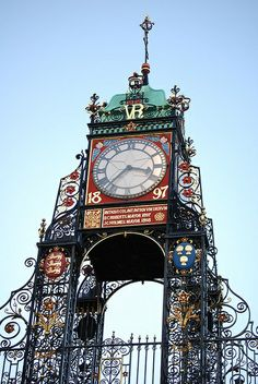 Eastgate clock, the second largest in Britain after Big Ben. Chester, England