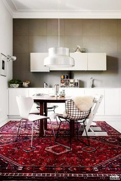 Trend Alert: Persian Rugs in the Kitchen via @mydomaine