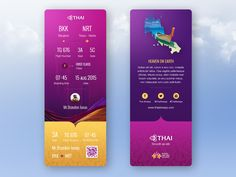 Thai airways has incredible cooperate identity such as logo, color palette or traditional texture of Thailand. So it's easy to create some stuff really unique.   This works was made by following of...