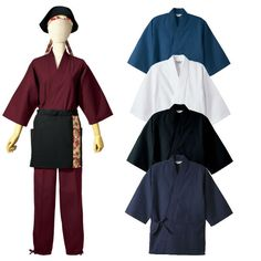 japanese style restaurant uniform with samue pants apron and hat $20~$40
