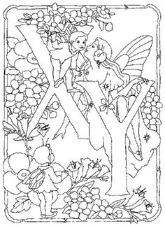coloring page Alphabet fairies on Kids-n-Fun. Coloring pages of Alphabet fairies on Kids-n-Fun. More than coloring pages. At Kids-n-Fun you will always find the nicest coloring pages first! Fairy Coloring Pages, Cool Coloring Pages, Adult Coloring Pages, Coloring Books, Coloring Letters, Alphabet Coloring Pages, Printable Coloring Pages, Free Coloring Sheets, Fantasy Drawings