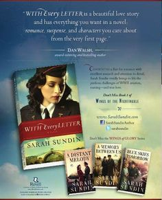 My endorsement for author Sarah Sundin's excellent book, With Every Letter, appears in a full page ad in Book Fun Magazine. I've read all her books. Great WW2 stories, lots of action and romance.