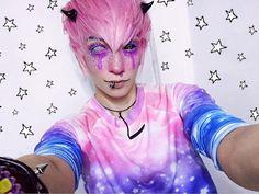 Photo Pastel Goth Fashion, Kawaii Fashion, Pikachu Makeup, Creepy Cute Fashion, Goth Guys, Cute Emo, Goth Makeup, Cosplay Makeup, Kawaii Clothes