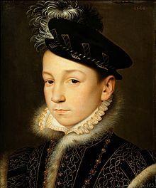 L'enfant-roi, Charles IX, fils d'Henri II et de Catherine de Medicis, vers 1560