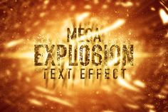 Check out Mega Explosion Text Effect by caiocall on Creative Market