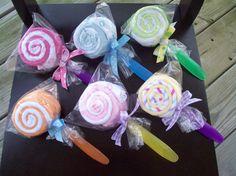 Double Washcloth Lollipop Baby Shower Gift por JudeBugsBabySweets