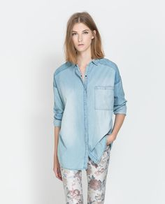 Oversized Denim Shirt @ Zara