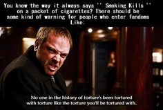I would probably still join the fandom tbh < Crowley :D Loki, Fandom Crossover, Supernatural Funny, Super Natural, Geek Out, Crowley, The Villain, Destiel, Superwholock
