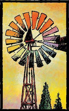 Prairie Tarot -- Wheel of Fortune