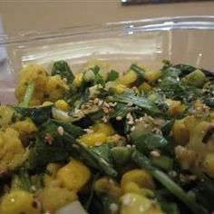 Cauliflower and Arugula Honey Sesame Salad Allrecipes.com
