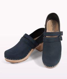 Sandgrens naples blue wooden clogs $179.00