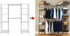 Portable Free Standing Closet With Blue Color Cover | Free Standing Closet  Rack | Pinterest | Standing Closet, Portable Closet And Organizing
