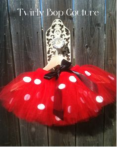 Minnie Mouse Tutu/ Costume / Halloween Party tutu/ Disney/-Custom Made/ newborn-2T. $30,00, via Etsy.