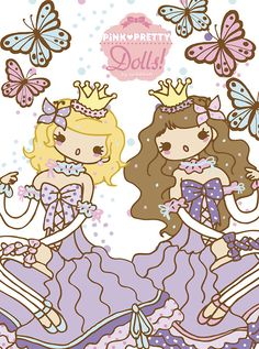 neilabbott: ilustraciones y diseños | Pink Pretty Dolls! FAIRY EDITION by neilabbott