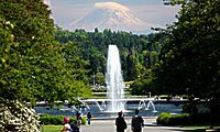 The University of Washington - the Fountain and the Mountain. I love this school.