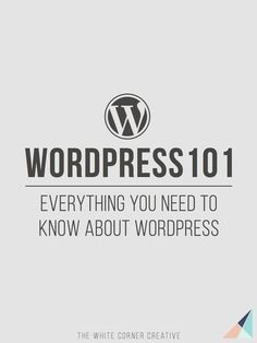 Wordpress 101 is a series dedicated to helping new users get to know http://Wordpress.org and become experts in no time at all.