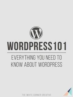 Wordpress 101 Series - WordPress for Beginners Wordpress Tutorials Wordpress Help Wordpress for Dummies
