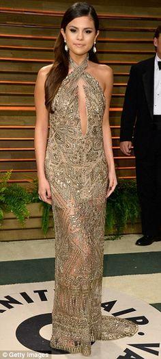 Uk Emilio Pucci Gold Sequins Dress Selena Gomez Emilio Pucci