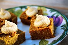 FOK - Pumpkin Pie Squares with Macadamia Vanilla Frosting