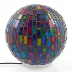 Chameleon Orb Light Stained Glass Multicoloured LED Remote Control Mood Lamp…