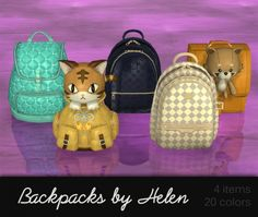 Backpacks clutter at Helen Sims • Sims 4 Updates