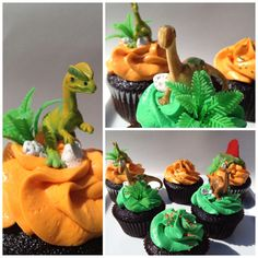 """Dino cupcakes By """"C is for Cupcake"""" Yakima"""