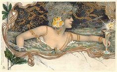 Tuck Art Nouveau postcard.