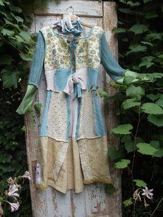 Upcycled,Eco Friendly,Long Sweater Coat OOAK. $250.00, via Etsy.