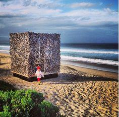 INSTAGRAM 18 Aug. Vanessa van Vreden Photography. Beach Mansion. Site_Specific #LandArtBiennale in #Plett. #LandArt