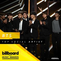 They did it! First K-pop group to win a #BBMAs. Your Top Social Artist is @BTS_twt!